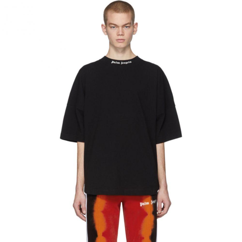 パーム エンジェルス Palm Angels メンズ Tシャツ トップス【Black Classic Logo Over T-Shirt】Black/White