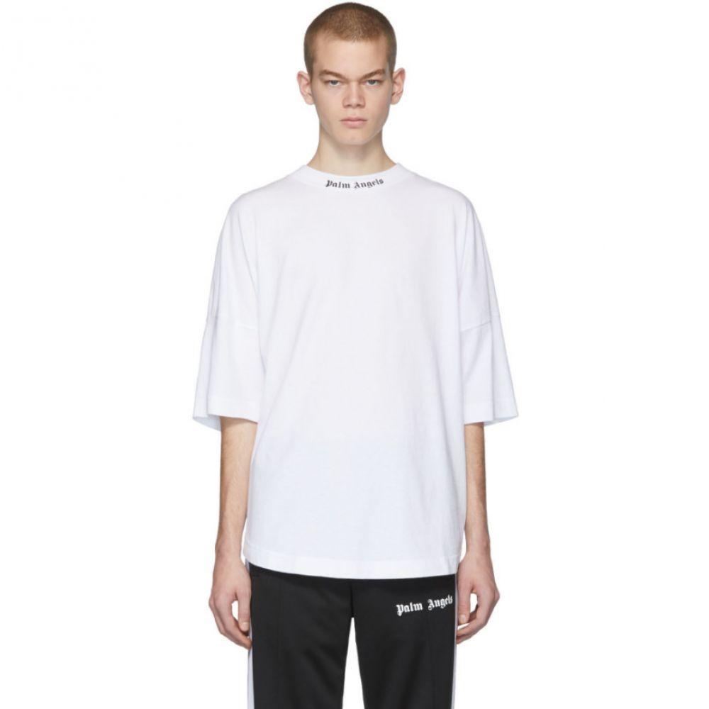 パーム エンジェルス Palm Angels メンズ Tシャツ トップス【White Classic Logo Over T-Shirt】White/Black