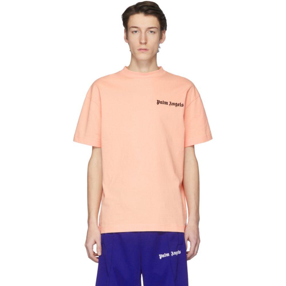 パーム エンジェルス Palm Angels メンズ Tシャツ トップス【Pink New Basic T-Shirt】Salmon
