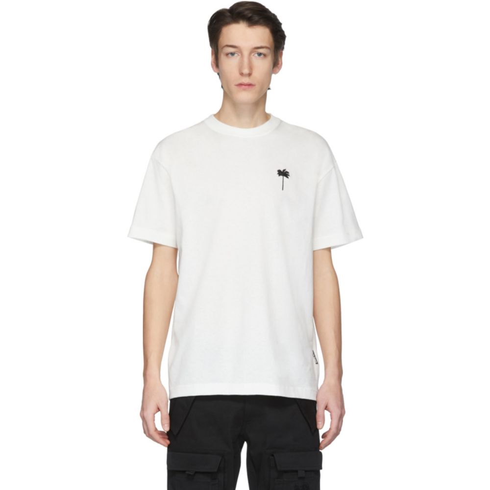 パーム エンジェルス Palm Angels メンズ Tシャツ トップス【Off-White 'Palm x Palm' Classic T-Shirt】White/Black