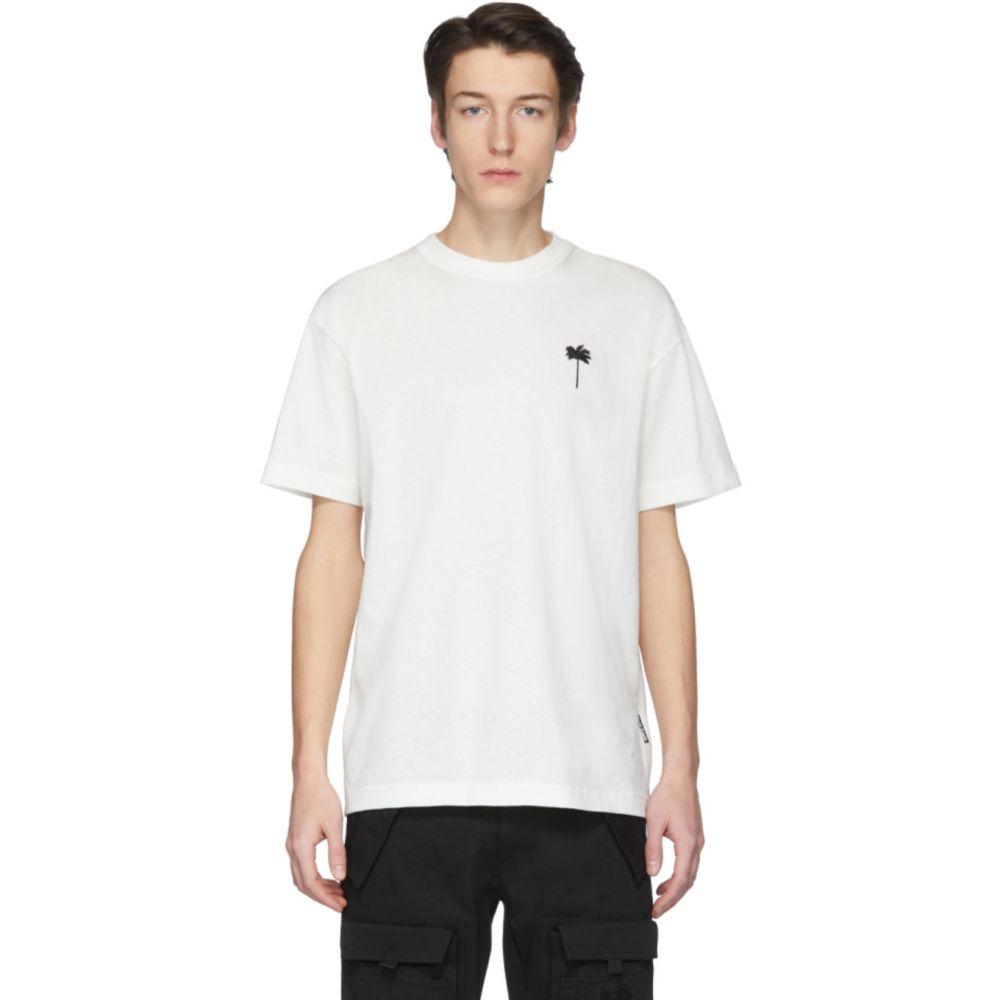 パーム エンジェルス Palm Angels メンズ Tシャツ トップス【Off-White 'Palm x Palm' Classic T-Shirt】White/Black
