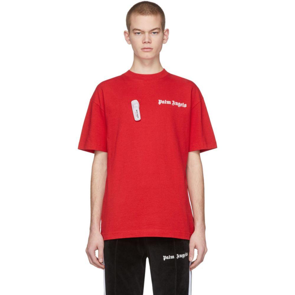 パーム エンジェルス Palm Angels メンズ Tシャツ トップス【Red New Basic T-Shirt】Red/White