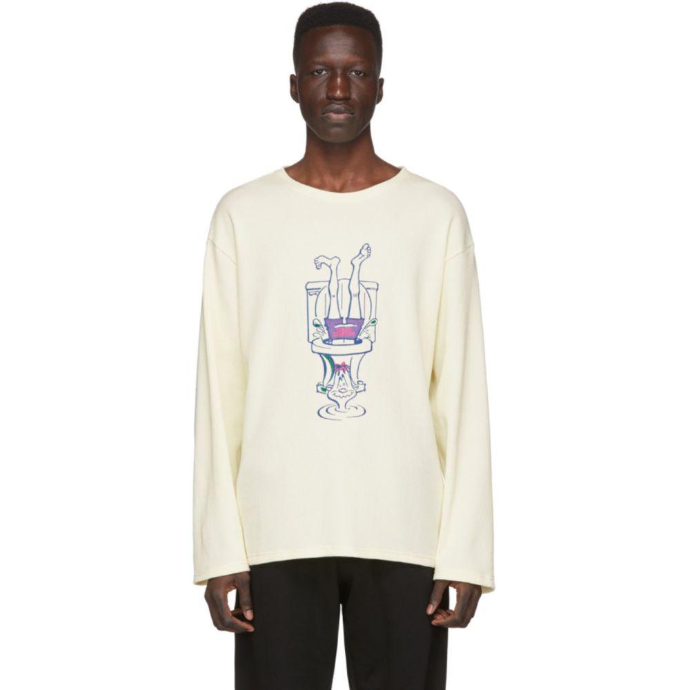 ロシャンボー Rochambeau メンズ Tシャツ トップス【Off-White 'Surfer Rosa' T-Shirt】White