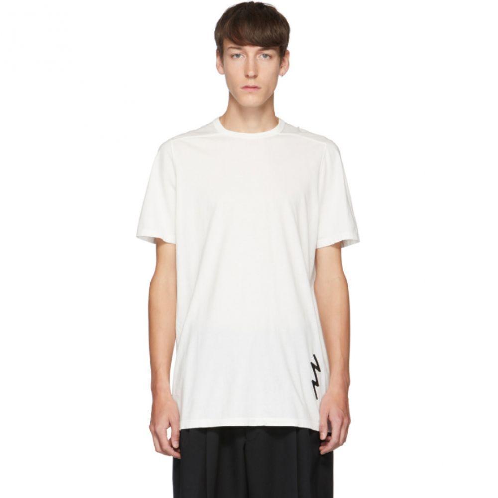 リック オウエンス Rick Owens メンズ Tシャツ トップス【White Lighting Bolt T-Shirt】Milk