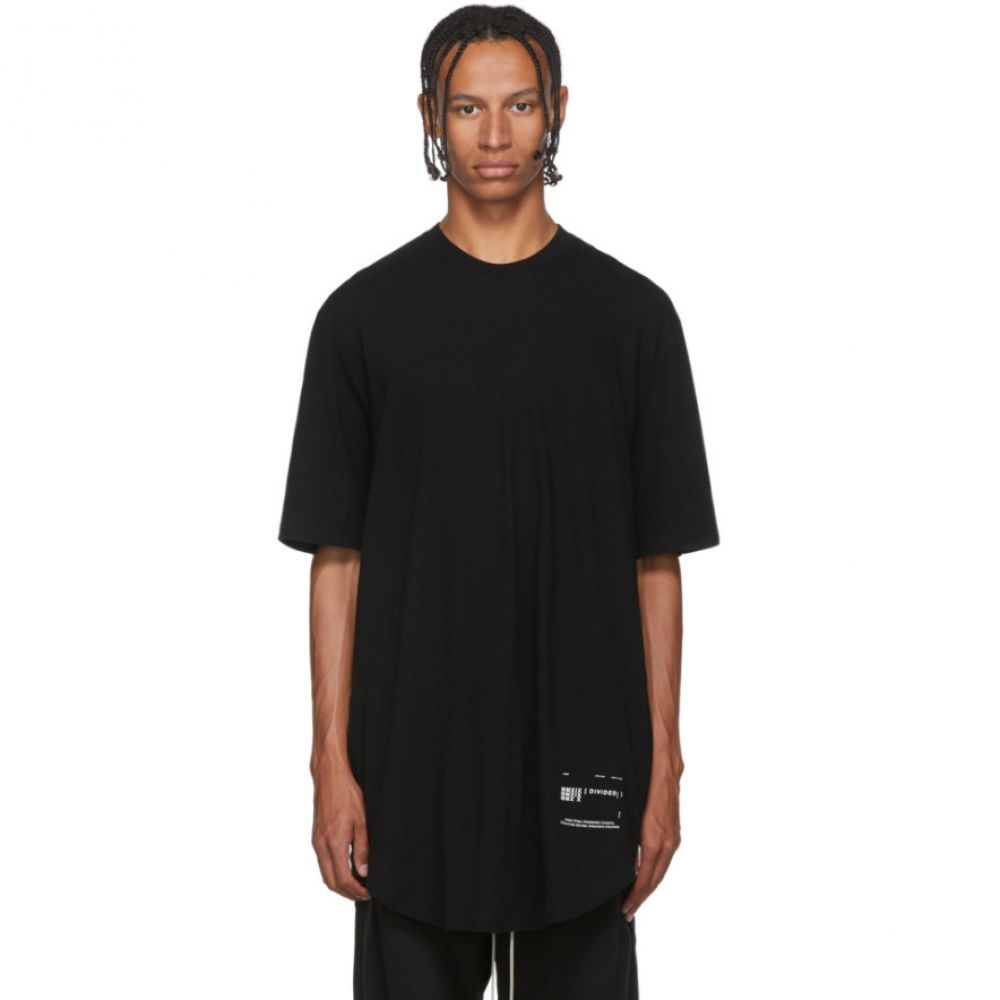 ユリウス Julius メンズ Tシャツ トップス【Black Draped T-Shirt】Black