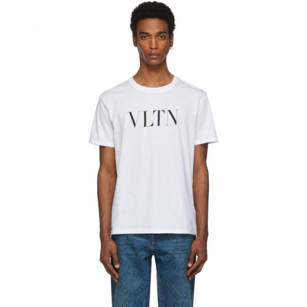 ヴァレンティノ Valentino メンズ Tシャツ トップス【White 'VLTN' T-Shirt】Blanc
