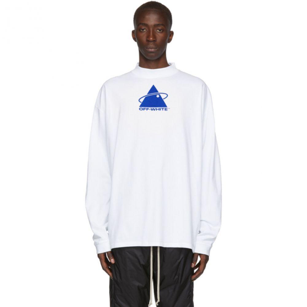 オフホワイト Off-White メンズ Tシャツ トップス【White Triangle Plant Mock T-Shirt】White/Blue