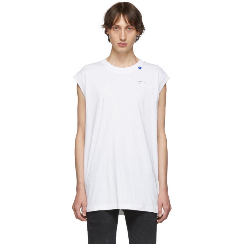 オフホワイト Off-White メンズ タンクトップ トップス【White & Silver Unfinished Tank Top】White/Silver