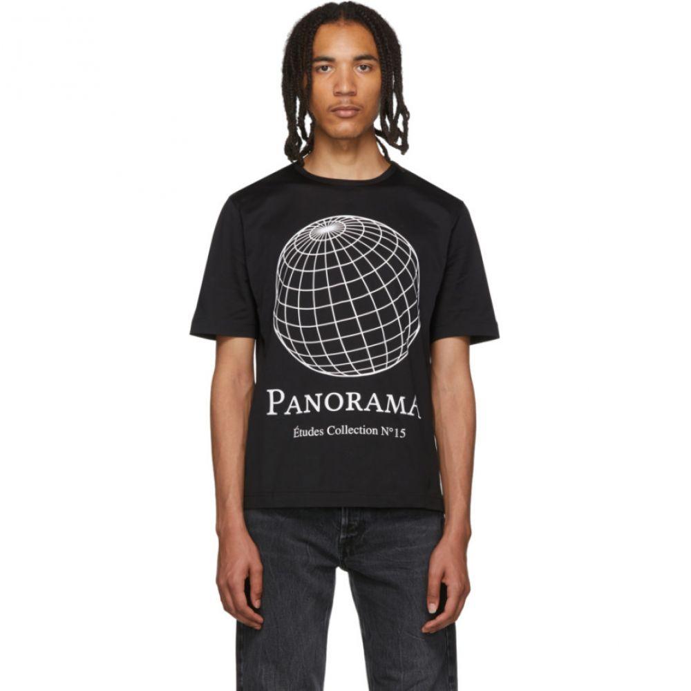 エチュード Etudes メンズ Tシャツ トップス【Black Unity Panorama T-Shirt】Black