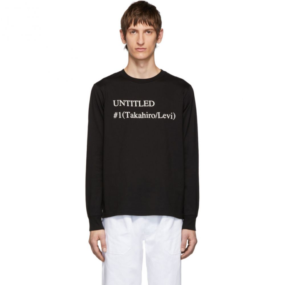タカヒロミヤシタザソロイスト TAKAHIROMIYASHITA TheSoloist. メンズ 長袖Tシャツ トップス【Black 'Untitled #1' Long Sleeve T-Shirt】Black