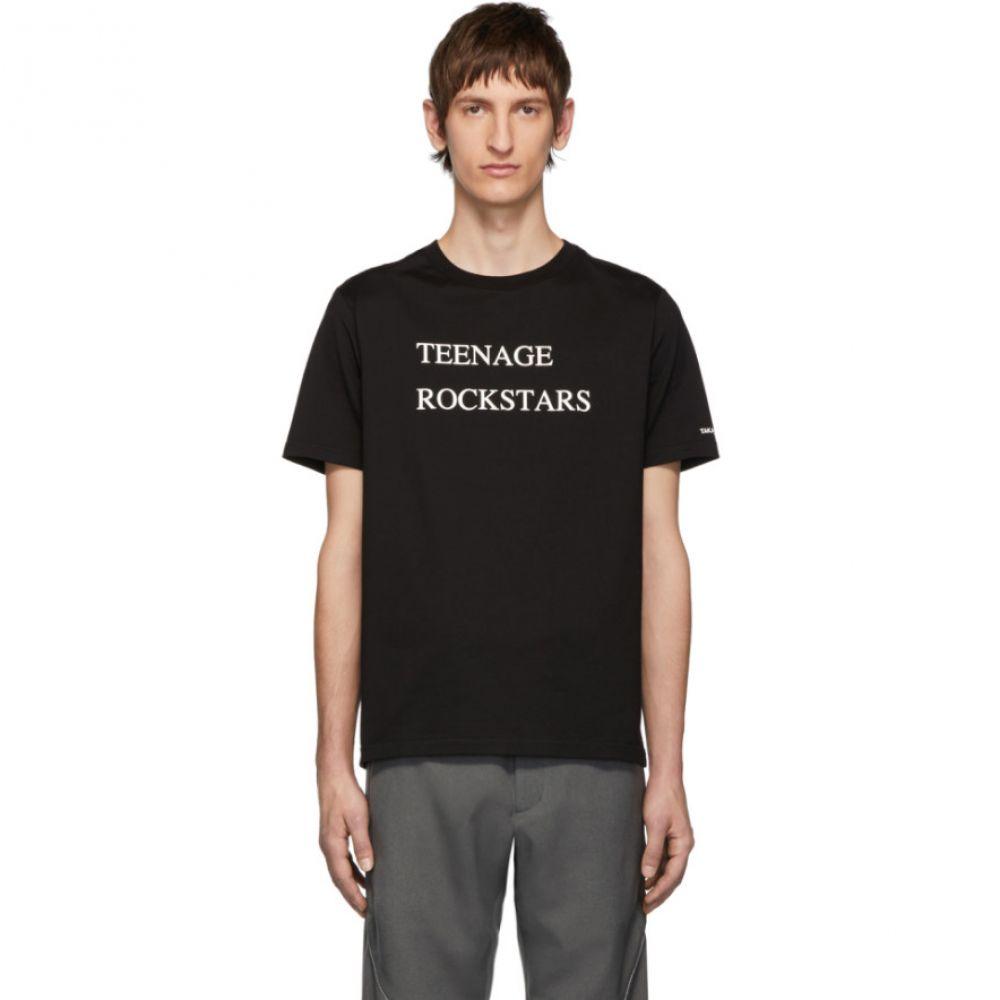 タカヒロミヤシタザソロイスト TAKAHIROMIYASHITA TheSoloist. メンズ Tシャツ トップス【Black 'Teenage Rockstars' T-Shirt】Black