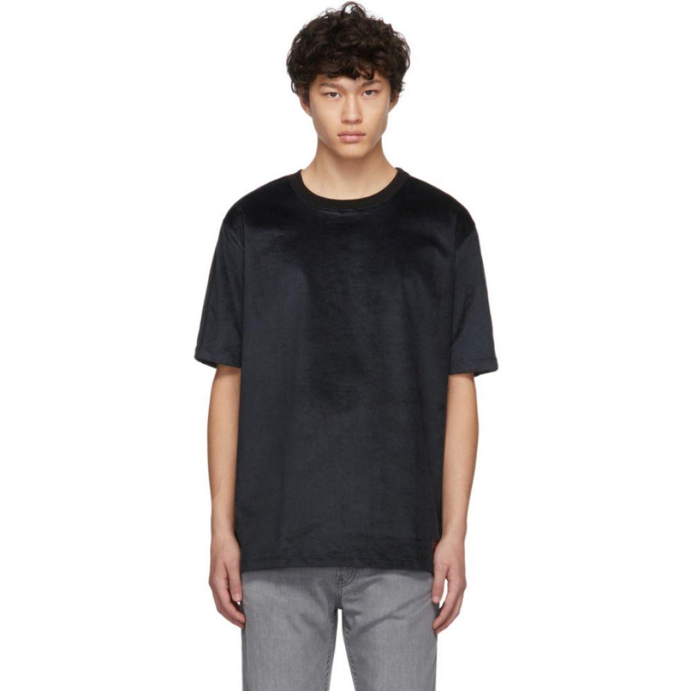 ヒューゴ ボス Hugo メンズ Tシャツ トップス【Black Velvet Degnitz T-Shirt】Black