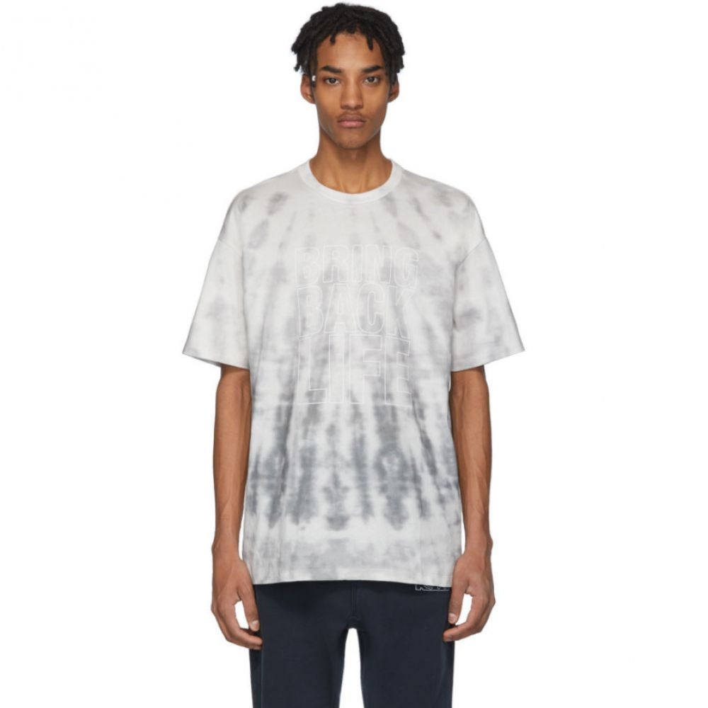 スビ Ksubi メンズ Tシャツ トップス【Grey Tie-Dye 'Bring Back Life' T-Shirt】Grey