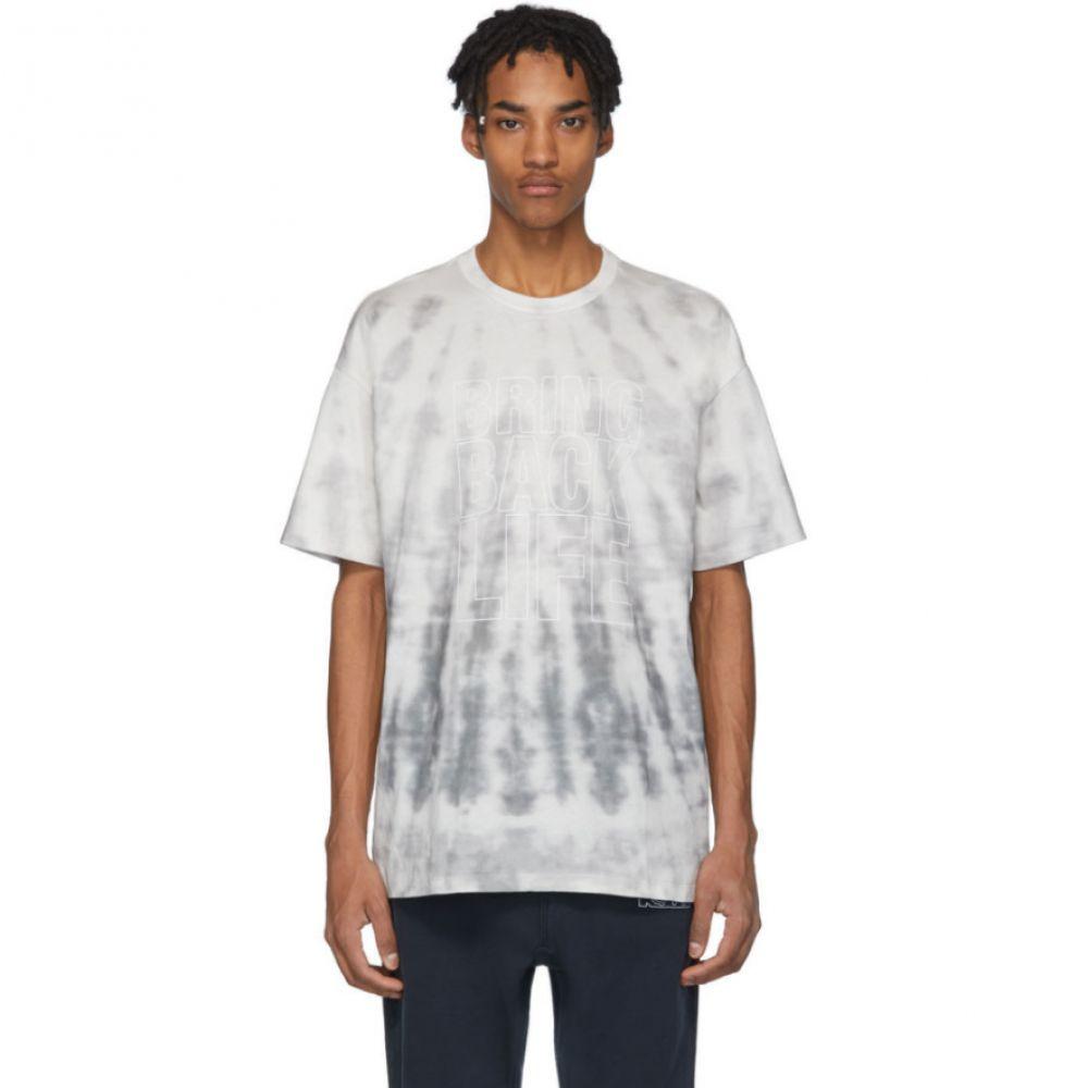 スビ Ksubi メンズ Tシャツ トップス【Grey Tie-Dye 'Bring Back Life' T-Shirt】Grey