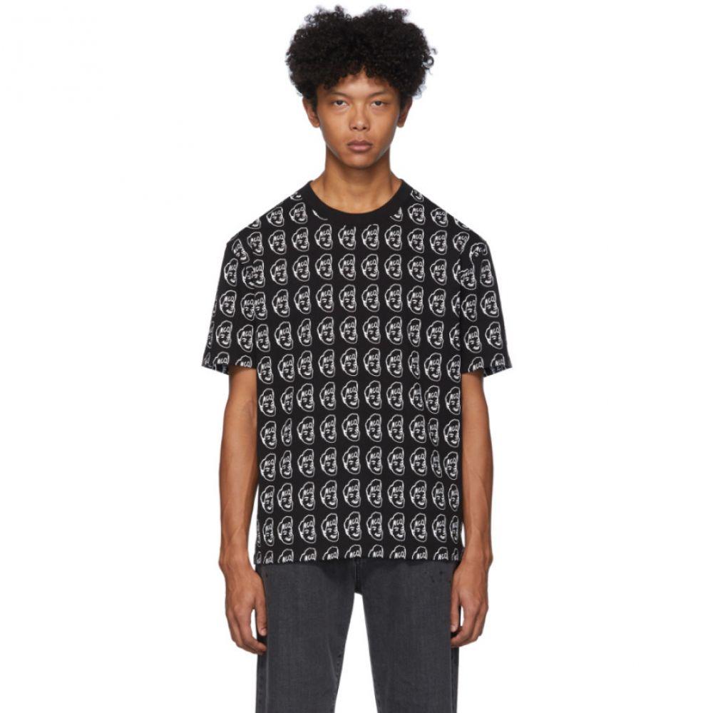 アレキサンダー マックイーン McQ Alexander McQueen メンズ Tシャツ トップス【Black Allover T-Shirt】Black