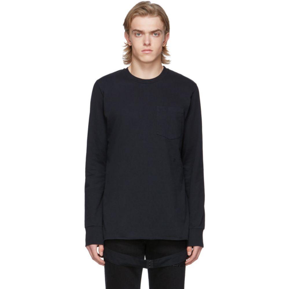 ヘルムート ラング Helmut Lang メンズ Tシャツ トップス【Black Side Strap T-Shirt】Black