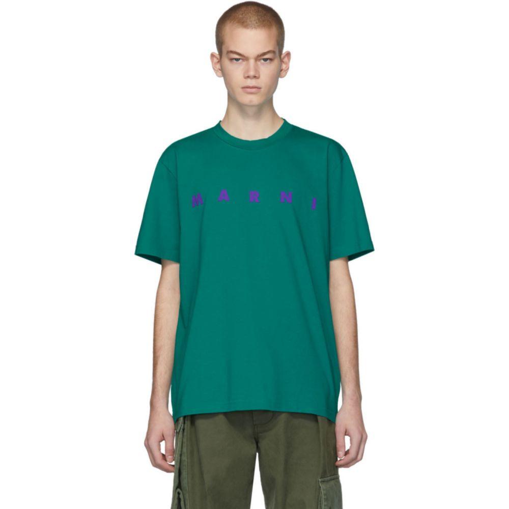 マルニ Marni メンズ Tシャツ トップス【Green Front Logo T-Shirt】Green