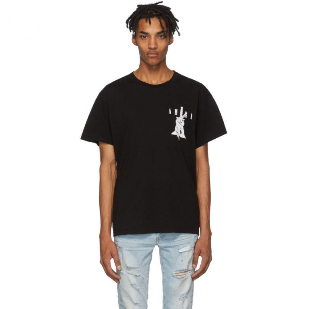 アミリ Amiri メンズ Tシャツ トップス【Black Dagger T-Shirt】Black