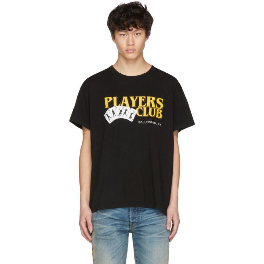アミリ Amiri メンズ Tシャツ トップス【Black 'Players Club' T-Shirt】Black