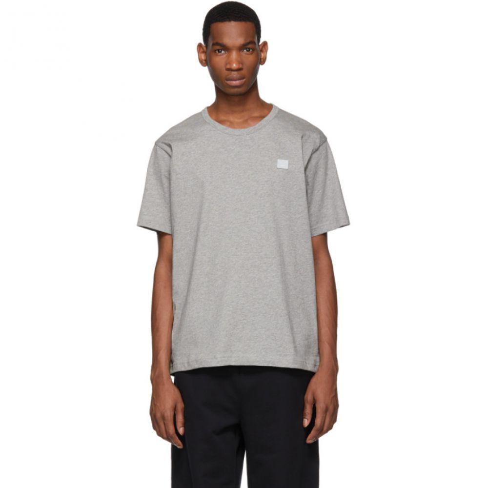 アクネ ストゥディオズ Acne Studios メンズ Tシャツ トップス【Grey Nash Face T-Shirt】