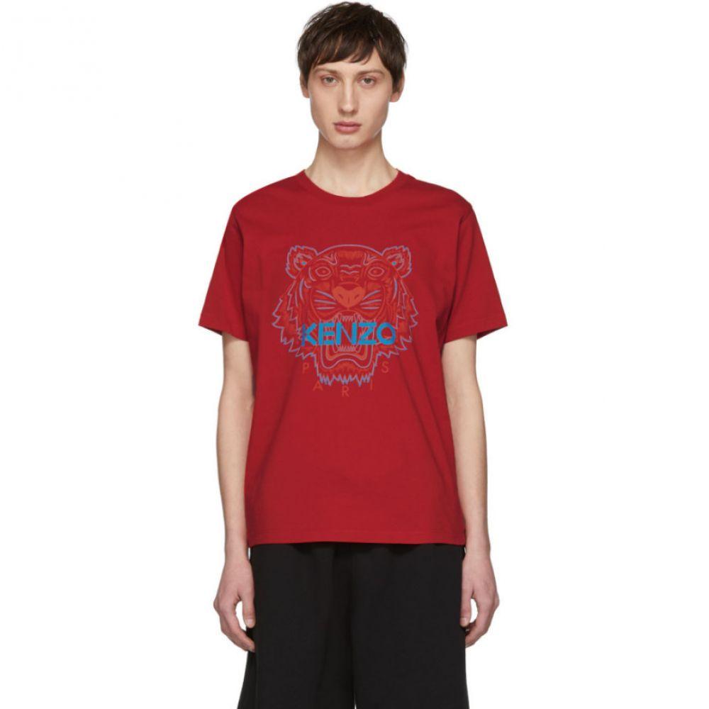 ケンゾー Kenzo メンズ Tシャツ トップス【Red Two-Tone Tiger T-Shirt】