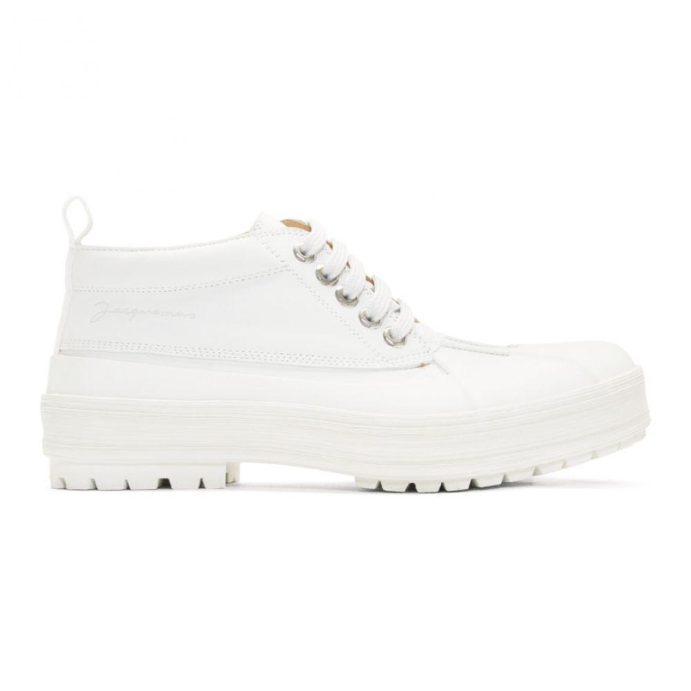 ジャックムス Jacquemus メンズ ブーツ シューズ・靴【White 'Les Meuniers' Boots】White