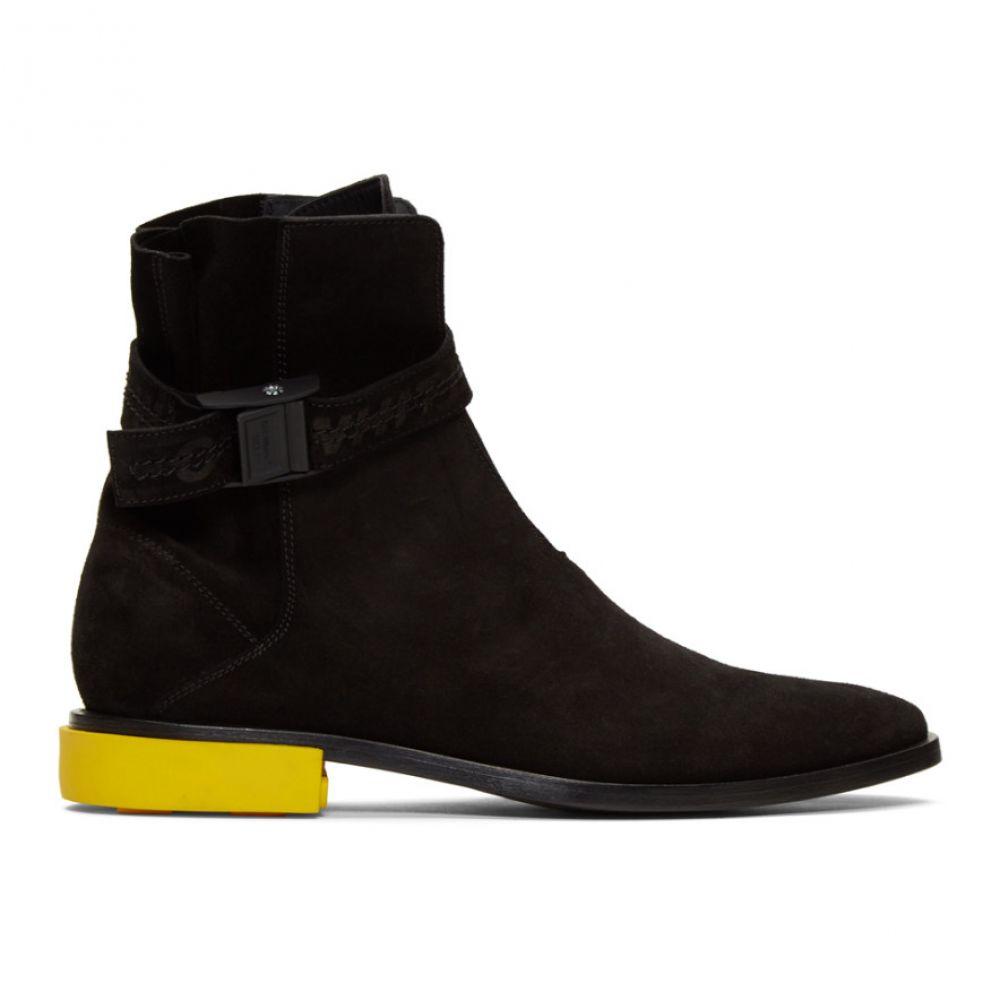 オフホワイト Off-White メンズ ブーツ シューズ・靴【Black Suede Jodhpur Boots】Black