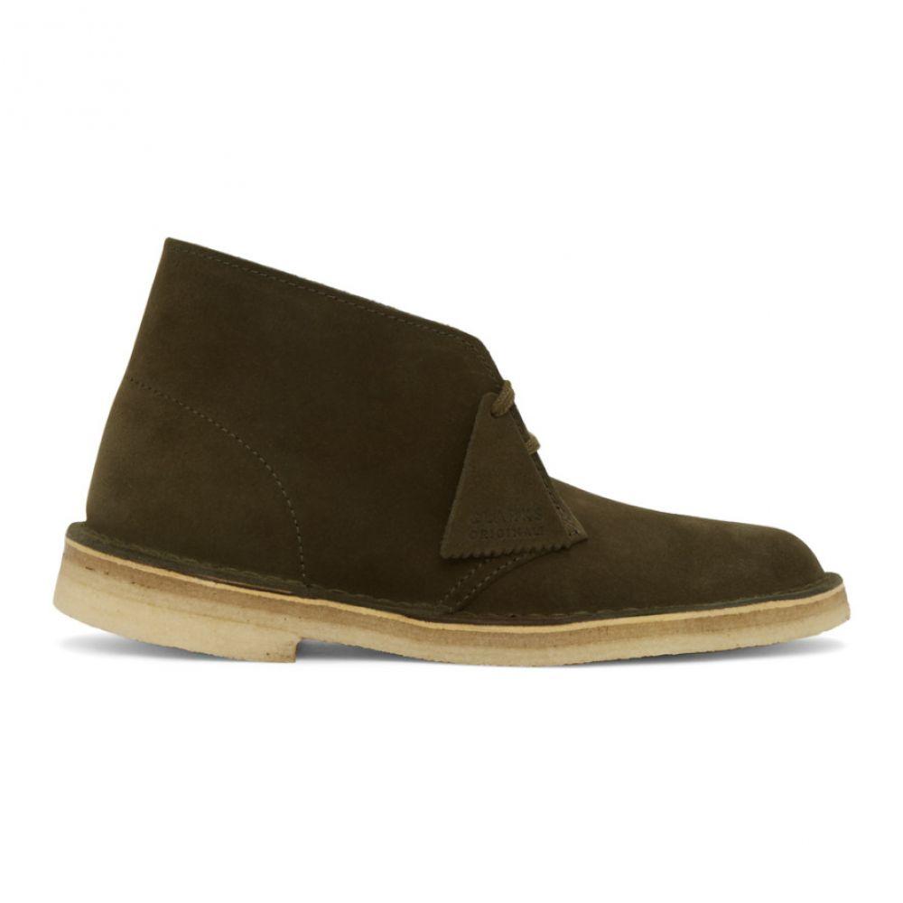 クラークス Clarks Originals メンズ ブーツ シューズ・靴【Khaki Suede Desert Boots】Dark olive