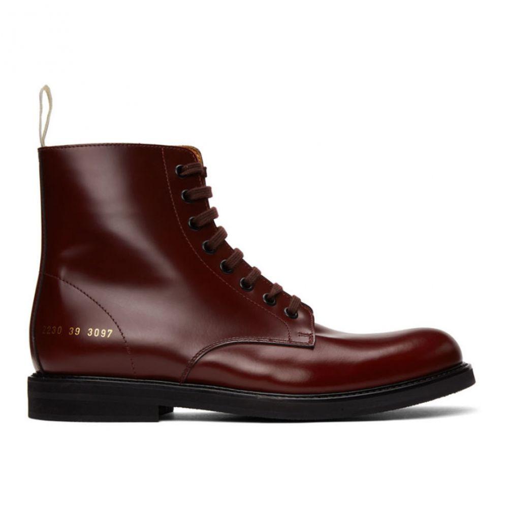コモン プロジェクト Common Projects メンズ ブーツ コンバットブーツ シューズ・靴【Burgundy Standard Combat Boots】Bordeaux