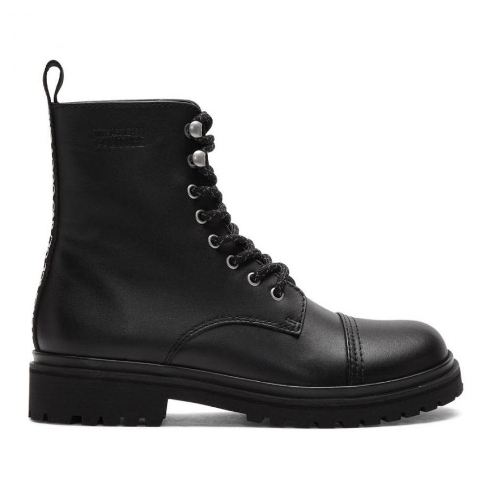 ヴェルサーチ Versace Jeans Couture メンズ ブーツ コンバットブーツ シューズ・靴【Black Combat Boots】Black