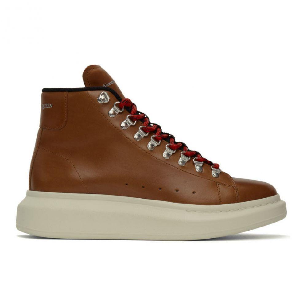 アレキサンダー マックイーン Alexander McQueen メンズ ハイキング・登山 ブーツ シューズ・靴【Brown Hybrid Hiking Boots】Rust/Black