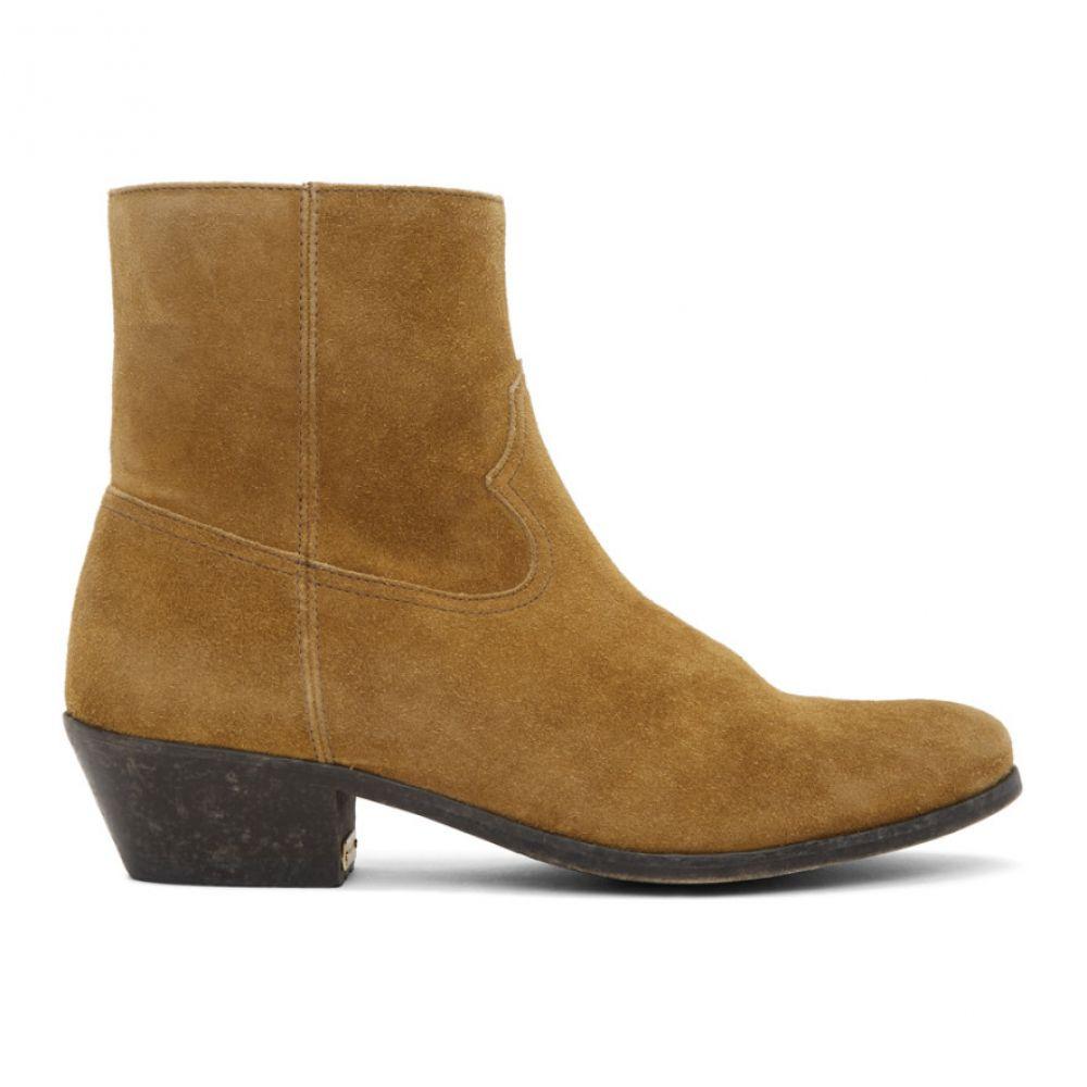 ゴールデン グース Golden Goose メンズ ブーツ カウボーイブーツ シューズ・靴【Brown Suede Cowboy Boots】Mustard