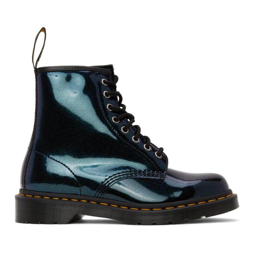 ドクターマーチン Dr. Martens メンズ ブーツ シューズ・靴【Blue Iridescent 1460 Boots】Teal pacific sparkle