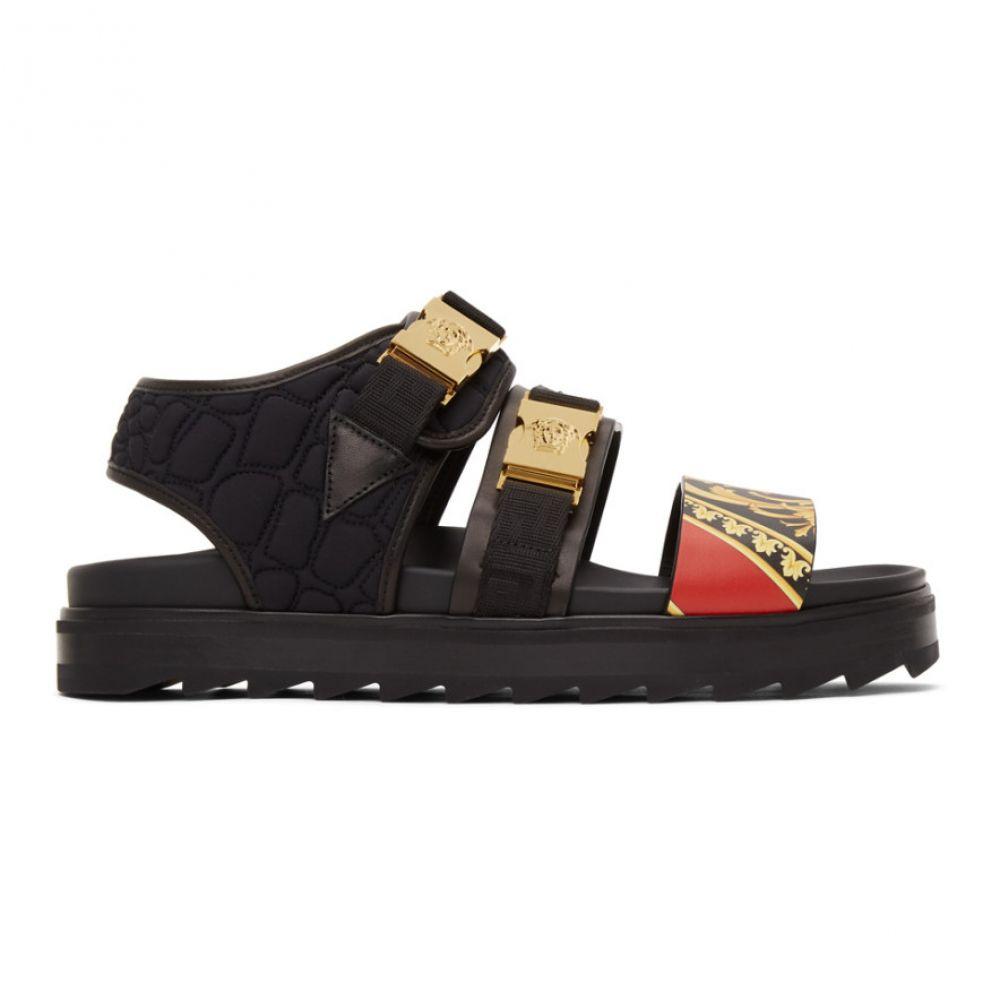ヴェルサーチ Versace メンズ サンダル シューズ・靴【Black Buckle Sandals】Black