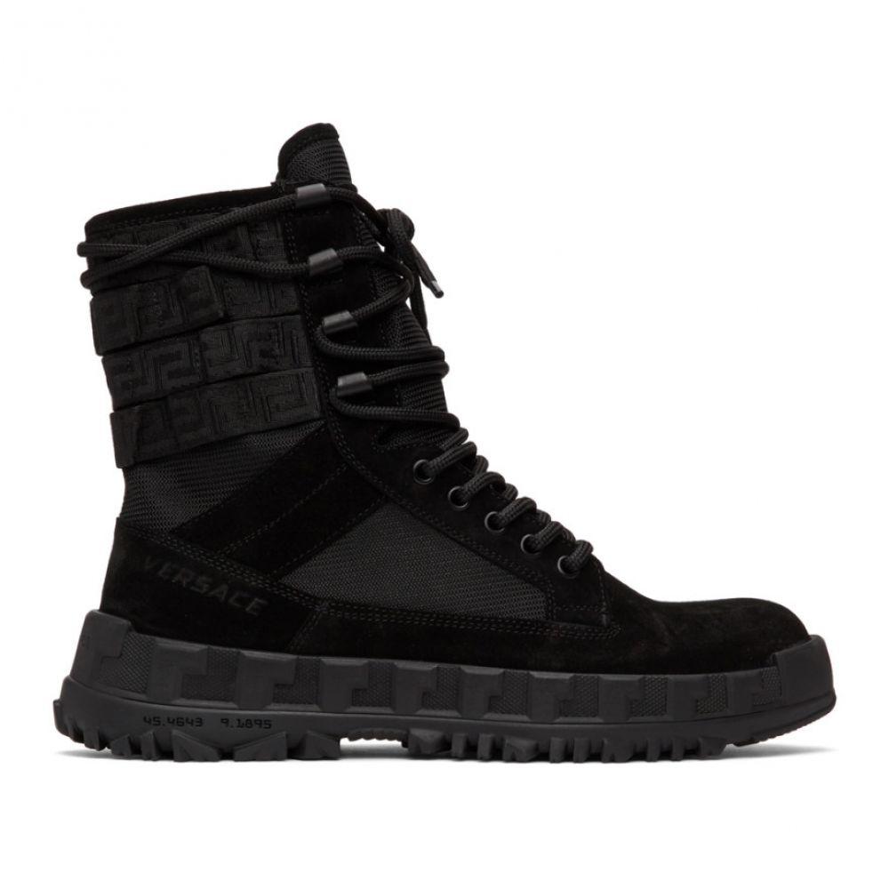 ヴェルサーチ Versace メンズ ブーツ ハイカット シューズ・靴【Black High Sneaker Boots】Black