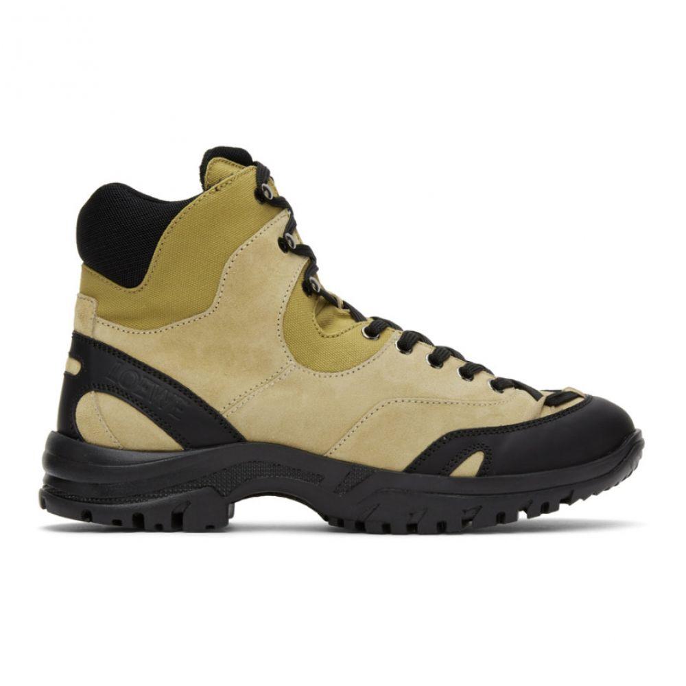 ロエベ Loewe メンズ ハイキング・登山 ブーツ シューズ・靴【Tan Eln Hiking Boots】Mustard