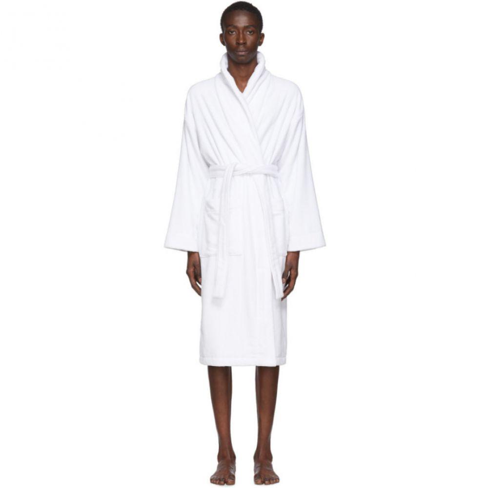 パーム エンジェルス Palm Angels メンズ ガウン・バスローブ インナー・下着【White Logo Bath Robe】White/Black