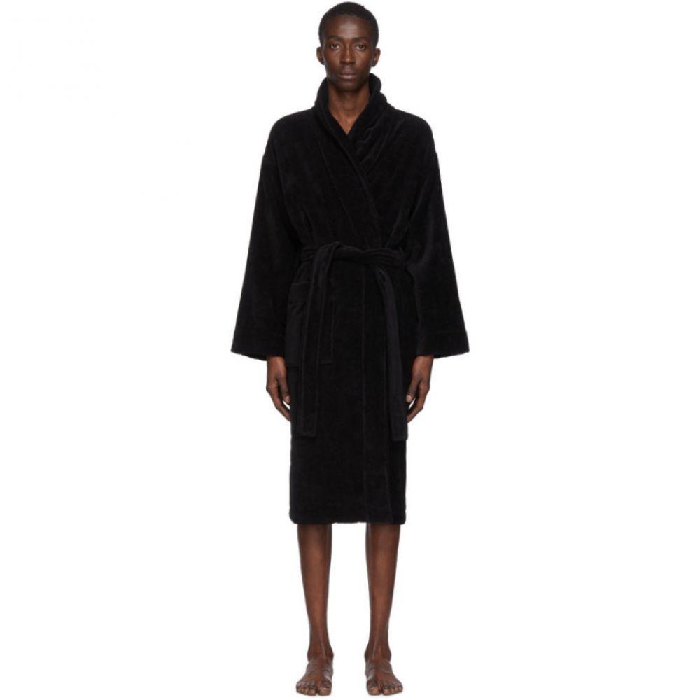 パーム エンジェルス Palm Angels メンズ ガウン・バスローブ インナー・下着【Black Logo Bath Robe】Black/White