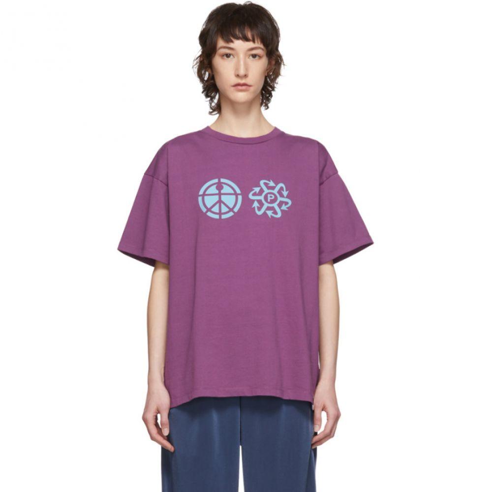 ラスベート Rassvet レディース Tシャツ トップス【Purple Logo T-Shirt】Purple