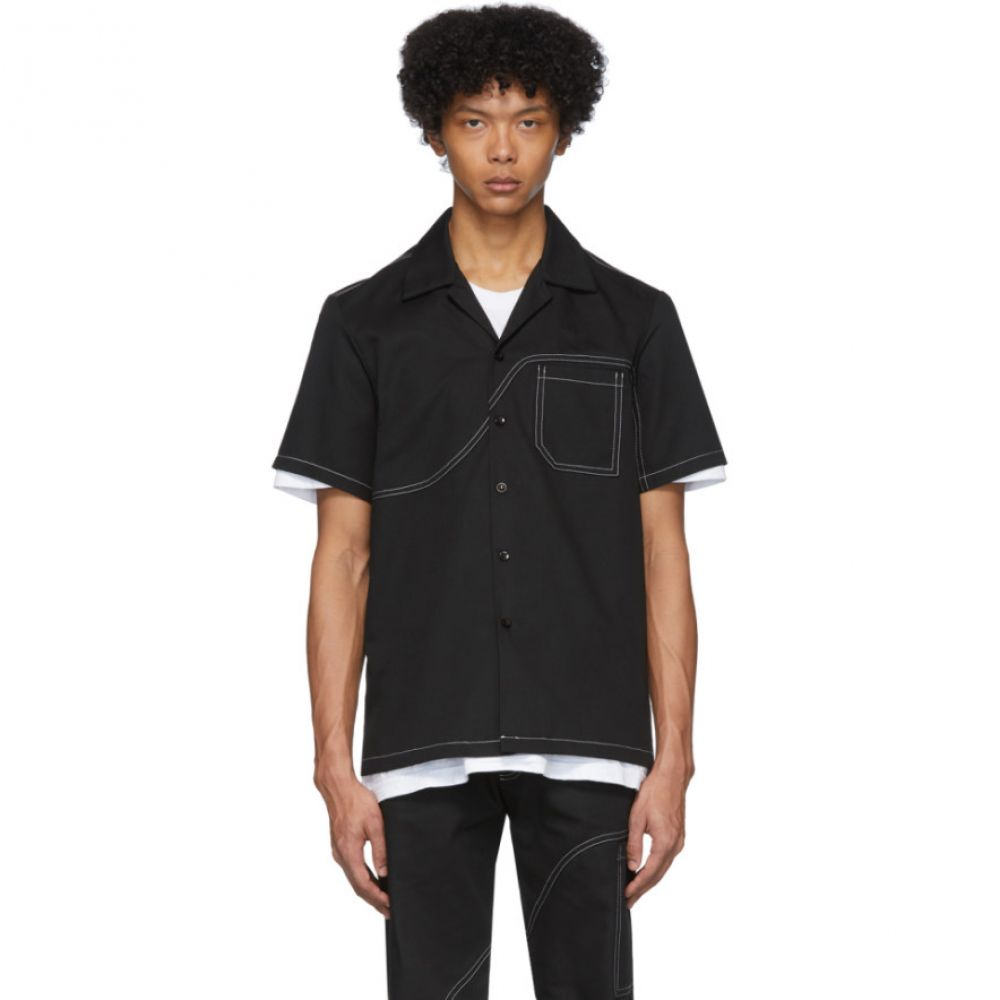 エデンパワーコープ EDEN power corp メンズ シャツ トップス【Black Field Shirt】Black