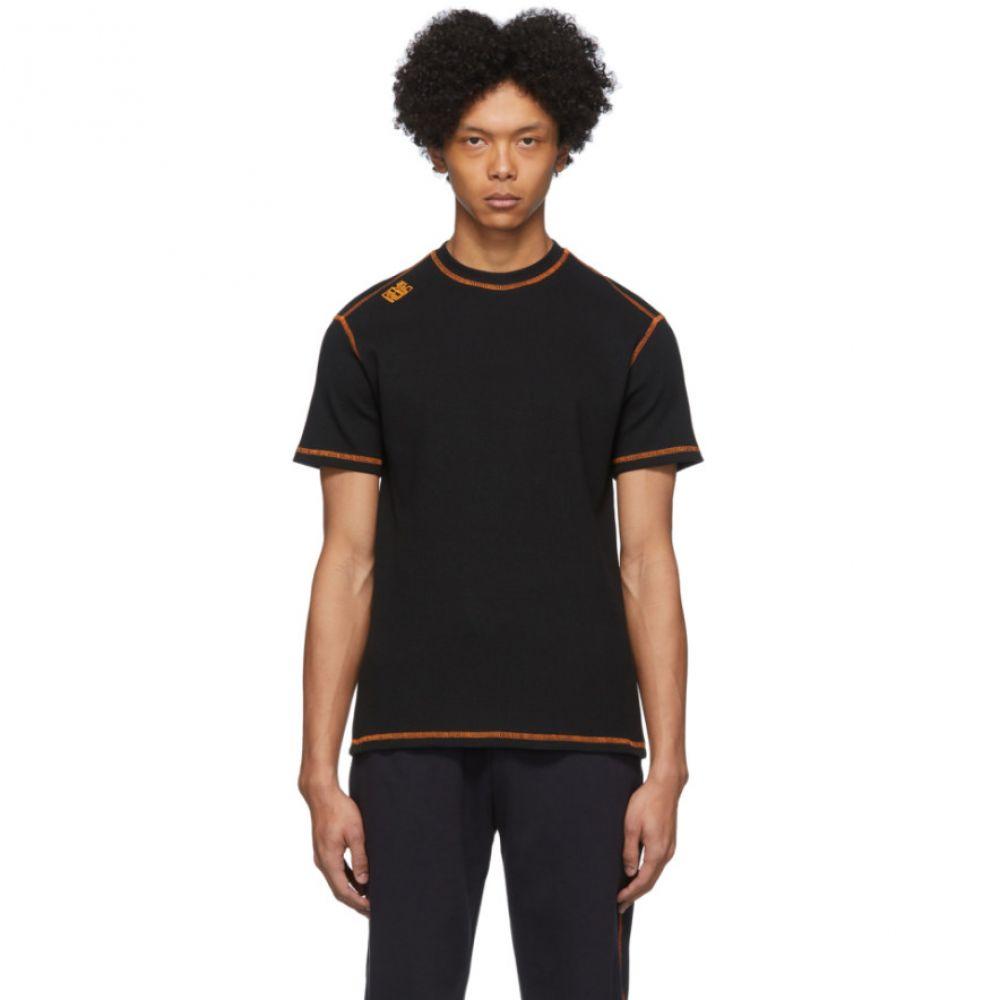 フレメン Phlemuns メンズ Tシャツ トップス【Black Contrast Stitch T-Shirt】Black