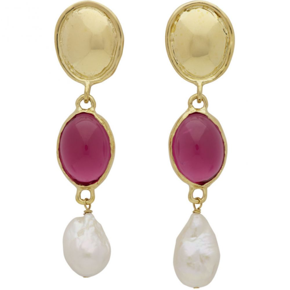 モンドモンド Mondo Mondo レディース イヤリング・ピアス ジュエリー・アクセサリー【Gold & Pink Sirena Earrings】Fuchsia