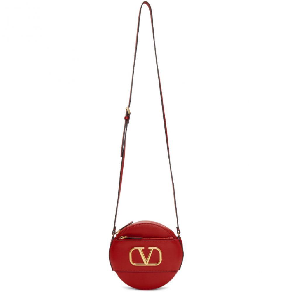 ヴァレンティノ Valentino レディース ショルダーバッグ バッグ【Red Garavani VLogo Round Shoulder Bag】Rouge pur