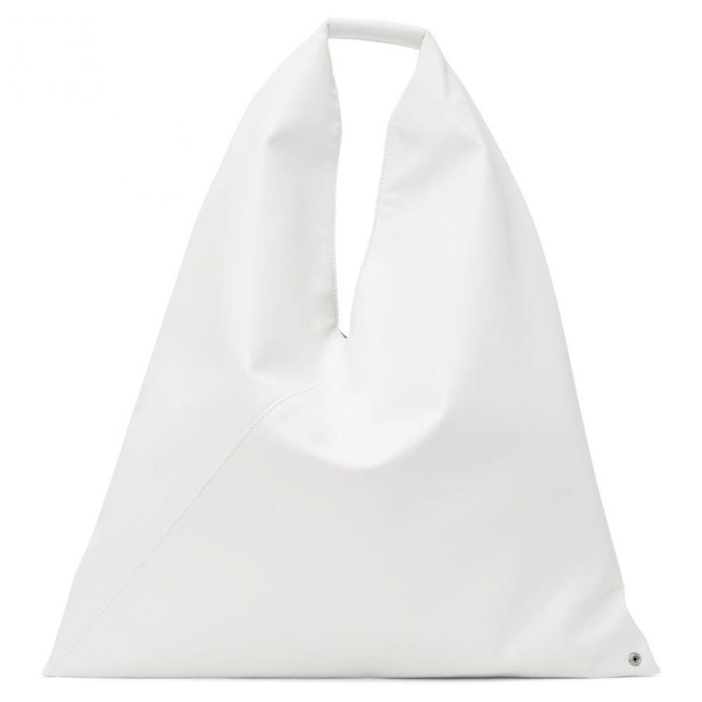 メゾン マルジェラ MM6 Maison Margiela レディース トートバッグ バッグ【White Medium Triangle Tote】White