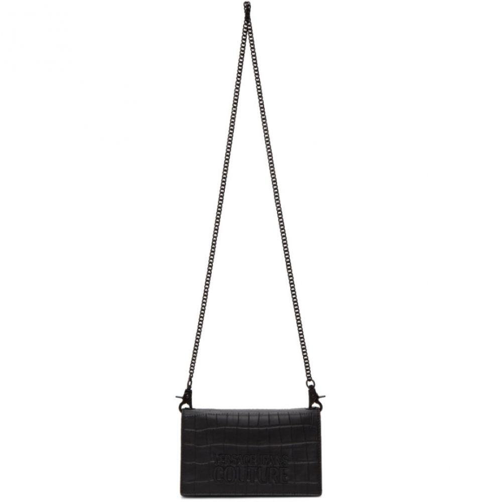 ヴェルサーチ Versace Jeans Couture レディース 財布 【Black Snake Logo Chain Wallet】Black