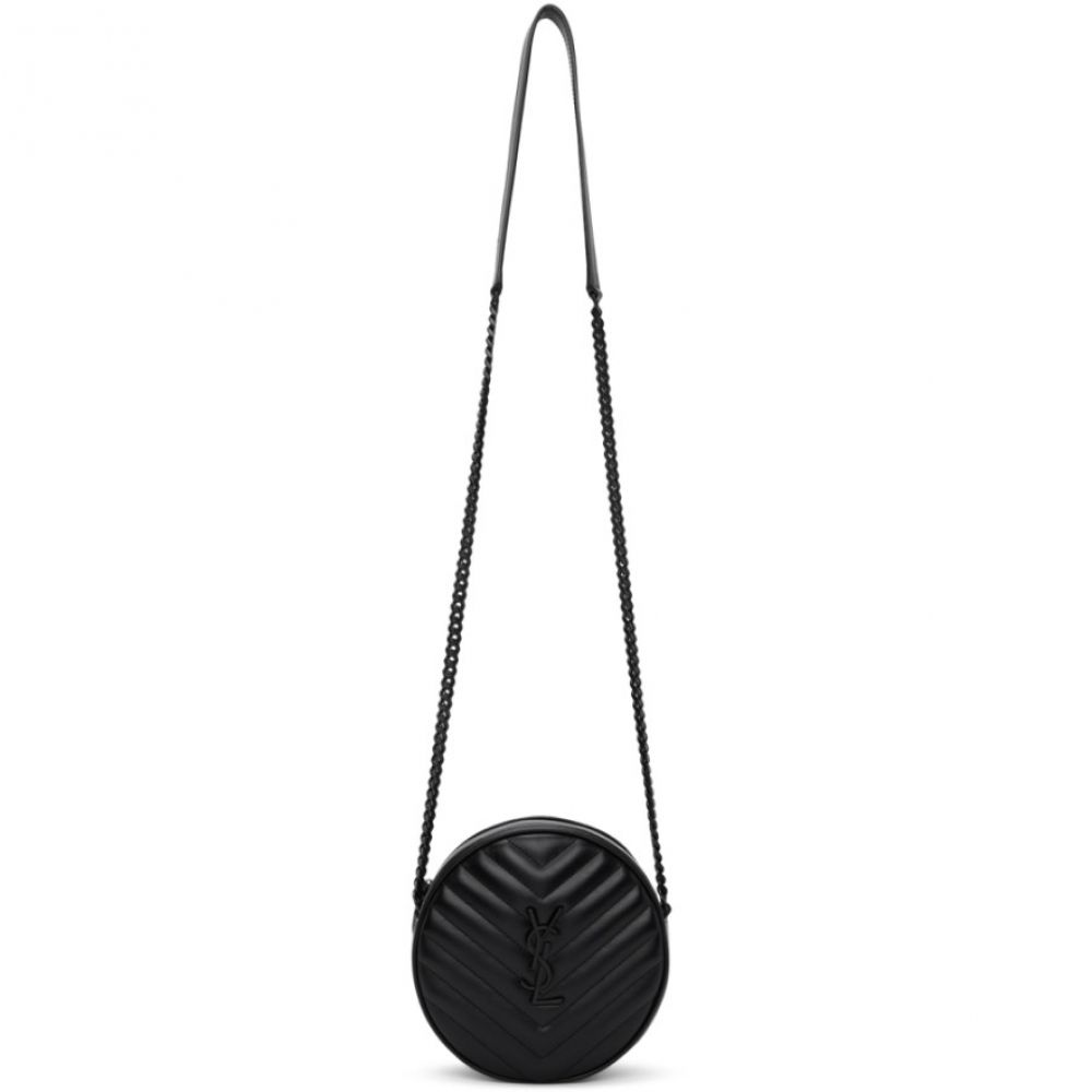 イヴ サンローラン Saint Laurent レディース ショルダーバッグ カメラバッグ バッグ【Black Round Jade Camera Bag】Black