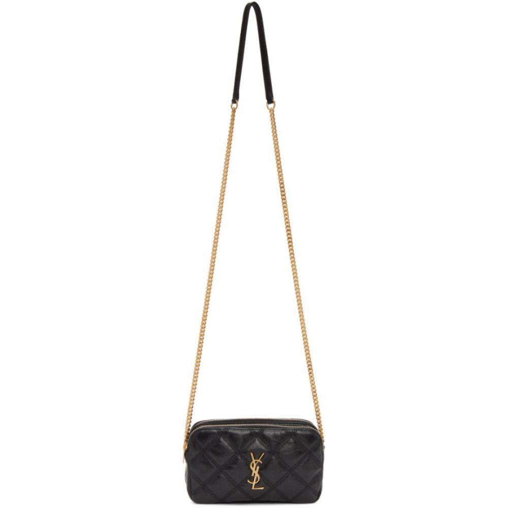 イヴ サンローラン Saint Laurent レディース ショルダーバッグ カメラバッグ バッグ【Black Becky Double Zip Camera Bag】Black