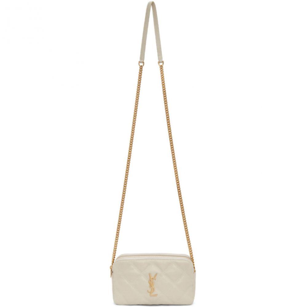 イヴ サンローラン Saint Laurent レディース ショルダーバッグ カメラバッグ バッグ【White Quilted Becky Camera Bag】White