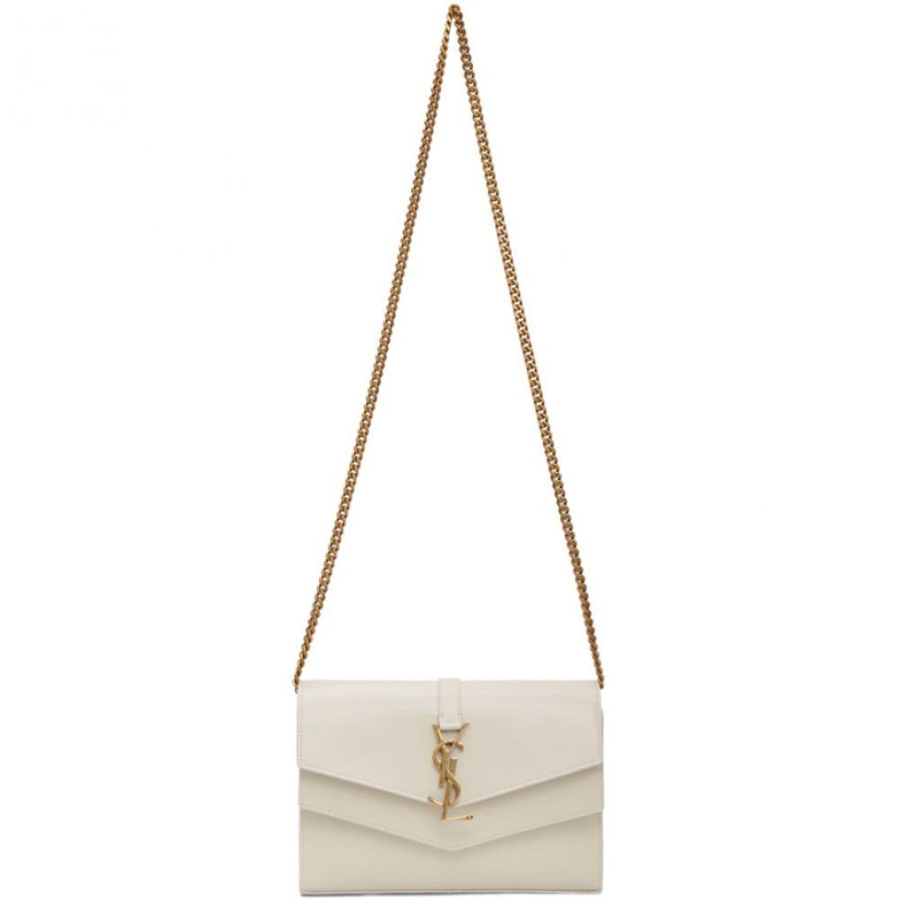 イヴ サンローラン Saint Laurent レディース ショルダーバッグ バッグ【Off-White Sulpice Chain Wallet Bag】White