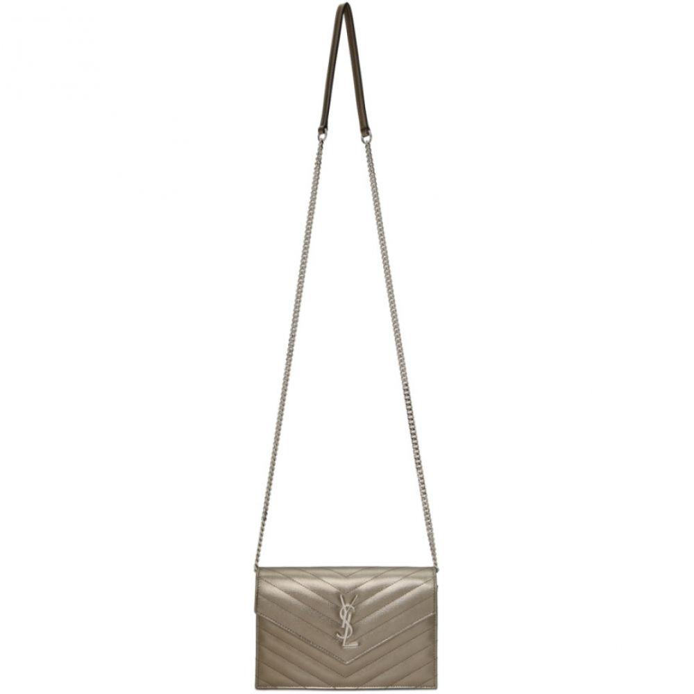 イヴ サンローラン Saint Laurent レディース ショルダーバッグ バッグ【Silver Monogramme Envelope Chain Wallet Bag】Silver